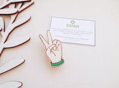 Peace Hand Brooch - in aid of Oxfam