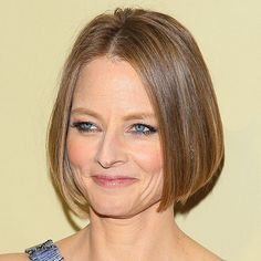 """Jodie Foster's bob is perfect for someone with fine or thinning hair. The chin-length cut makes hair look fuller and well maintained, Russo says. Ask your stylist for a classic bob, but with blunt, razor cut ends that fall where your jawline begins, he says. """"This shows off your facial features, while adding some dimension to your look,"""" he says."""