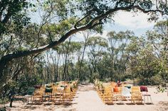 amazing bush wedding setting!