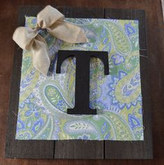 Shabby Chic Large Personalized Initial by MyBlessedMessGifts