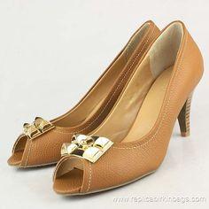 Hermes Mid Heel Peep Toe Shoes
