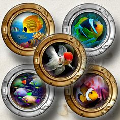 Sea World in the Porthole Printable Images  by CobraGraphics, $4.60