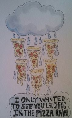 """Joylessbutcher PIZZA RAIN """"I love you STEVEN UNIVERSE"""" I had to do this as my warm up sketch for today.."""