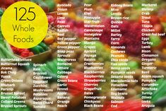 Love this list of 125 Whole foods from @Laura Hall and @RunToTheFinish- Amanda Brooks!
