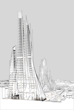 Student Proposal for London's Bishopsgate Goodsyard Builds on the Legacy of Zaha Hadid,Section. Image Courtesy of Yale School of Architecture