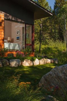 Living in the woods: Cozy guest house in Wyoming