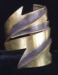 brass cuff bracelet by American studio artist Art Smith