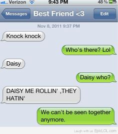 Knock Knock...Who's there?....Daisy