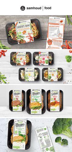 &samhoud vegetarian meals packaging #packaging #design #packagingdesign #creative #burger #meals #inspiration