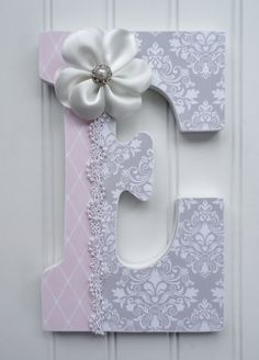 Nursery Wall Letters Shabby Chic Wall Letters door fabbdesigns