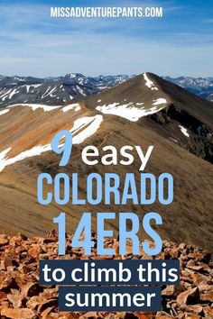 The best Colorado hikes for beginners! All of the hikes on this list are on good trails with a good grade and terrain. While not exactly easy, they're doable for most reasonably fit hikers. Colorado Springs, State Of Colorado, Colorado Hiking, Colorado Mountains, Adventure Time, Adventure Travel, Pikes Peak, Hiking Photography, Hiking Tips