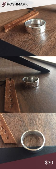 Hammered Sterling silver ring size 9 🎉🎊Solid Sterling silver,Shop with confidence 😍😍 Jewelry Rings
