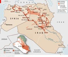 #ISIS, the map of escalation