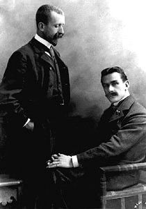 Heinrich and Thomas Mann, Munich, ca 1900, studio Elvira (Munich)