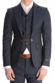 Vivienne Westwood - Vivienne Westwood Men's Waistcoat Insert Blazer Blue | Hardly Ever Worn It