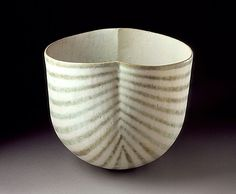 John Ward (England, born 1943) Striped Bowl, circa 1983Ceramic, Stoneware, glaze