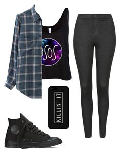"""""""Untitled #53"""" by dude-iloveyouxo ❤ liked on Polyvore featuring Chicnova Fashion, Topshop and Converse"""