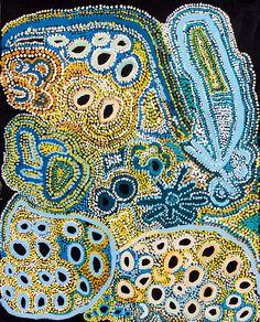Estelle Hogan Inyika - Paltatatjara http://www.aboriginalsignature.com/art-aborigene-spinifex-art-project/estelle-hogan-inyika-paltatatjara