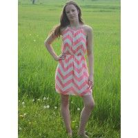 Grace's Boutique: Summer Sun Dress in Coral