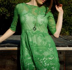 Found on etsy by an artist in Santa Cruz who makes dresses from old table cloths.