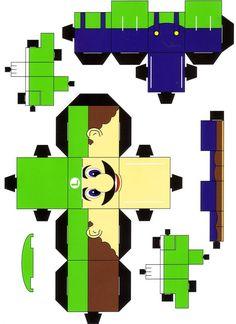 Bowser Mario Bros 2 Cubeecraft Papercraft By