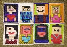 Minecraft portraits year 5