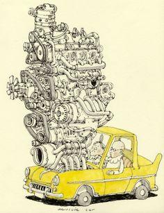 Sketchbook 26 by Mattias Adolfsson, via Behance