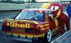 Robb Gravett Ford Sapphire BTCC Thruxton 1991 Sport Cars, Race Cars, Ford Rs, Ford Sierra, Vintage Race Car, Car Photos, Monster Trucks, Shell, Vehicles