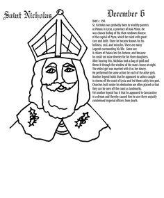 Saints coloring pages on pinterest catholic coloring for St nicholas coloring pages