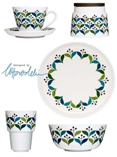 Lotta Odelius for Sagaform: Retro collection of kitchen stuff with bold beautiful Scandinavian style pattern