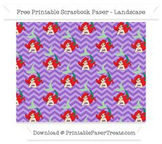 FreeAmethyst Chevron Large Ariel Pattern Paper - The Little Mermaid