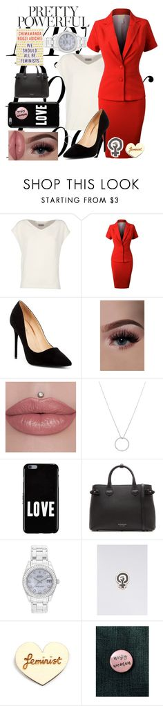 """""""Nasty Woman"""" by jae912 ❤ liked on Polyvore featuring Alberto Biani, LE3NO, Liliana, Roberto Coin, Givenchy, Burberry, Rolex, Felt Good Co., Kate Rowland and Anthropologie"""