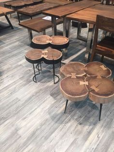 Small coffee tables with wood on top