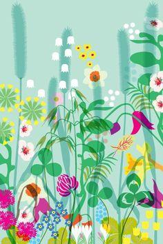 Lotta Kühlhorn | Lotta Kühlhorn - lakan_blommor_retro_pink.jpg