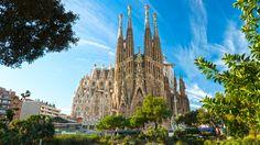 Sagrada Familia in Barcelona,Spain.Building by Antonio Gaudi in The Tourist, Tourist Places, Tourist Spots, Destinations D'europe, Holiday Destinations, Barcelona Tours, Barcelona Catalonia, Barcelona Travel, Barcelona City