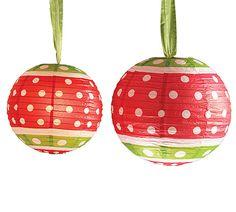 Create big bold Christmas fun with our paper polka dot lanterns!  #christmaspolkadots #burtonandburton