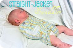 DIY velcro  Swaddler without the sleep sack, great for the hot summer. If only I could sew..