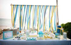 Image result for baby shower beach dessert table