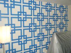 Great Wall Paint Techniques. Painters Tape DesignPainted ...