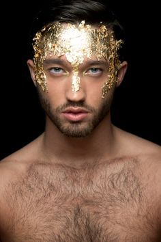 Image result for gold skin paint