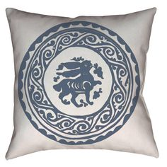 Arabesque Bunny Medieval Fatimid Design Home Decor Pillow
