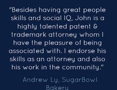16 John D Tran Oc Irvine Patent Trademark Lawyer Rhema Law Group Testimonials Ideas Trademark Lawyer Irvine Testimonials