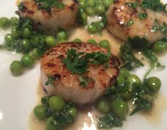 Mystery Lovers' Kitchen: Bobby Flay's Mint Scallops and Peas #recipe from @DarylWoodGerber