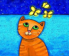 Hey, I found this really awesome Etsy listing at https://www.etsy.com/listing/38146689/firefly-cat-print