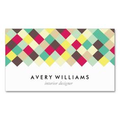 Dive Into Color Business Card. This great business card design is available for customization. All text style, colors, sizes can be modified to fit your needs. Just click the image to learn more!