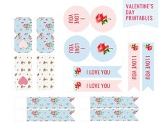 Valentines Day craft ideas printables | Tea Bag Valentine Printables | TodaysCreativeBlog.net