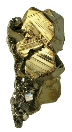Chalcopyrite, Pyrite. Recuerdo Vein, Huanzala Mine, Huallanca District, Dos de Mayo Province, Huanuco Department, Peru. 4.7 x 3.9 x 3.5 cm