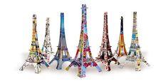 Les jolies crea de l'Atelier de Louise, des idées de cadeaux pour tous les amoureux de Paris.  For all Paris lovers who wish to see the Eiffel Tower more often!