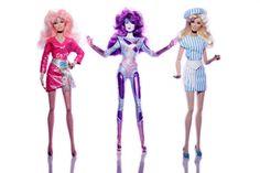 Jem, Synergy and Jerrica dolls