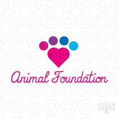A shape of the heart created out of the simplified shape of the animal paw. Logo recommended primarily for pet store, veterinary clinic, pet hotel, pet day care, animal charity foundation.